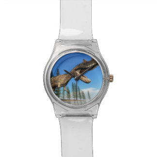 Ceratosaurus dinosaur at the shoreline - 3D render Watch