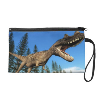 Ceratosaurus dinosaur at the shoreline - 3D render Wristlet