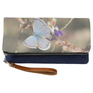 Ceraunus Blue Butterfly Clutch