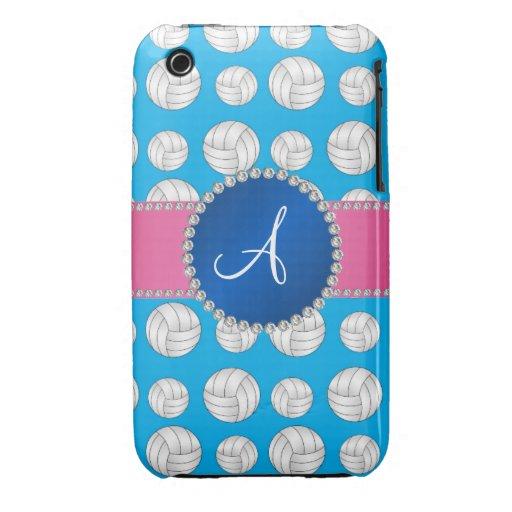 Cercle de bleu de volleyballs de bleu de ciel de m coques Case-Mate iPhone 3