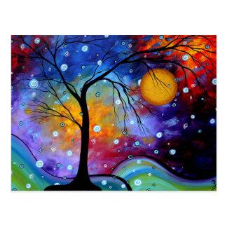 Cercle d'étincelle d'hiver de la peinture de la vi carte postale
