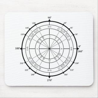 Cercle d'unité de geek de maths tapis de souris