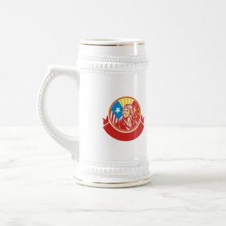 Cercle pilote de drapeau des Etats-Unis Chine de Chope À Bière