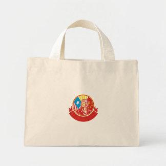 Cercle pilote de drapeau des Etats-Unis Chine de Mini Tote Bag