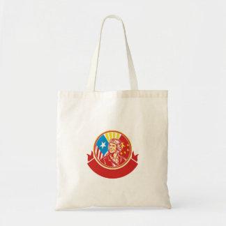 Cercle pilote de drapeau des Etats-Unis Chine de Tote Bag