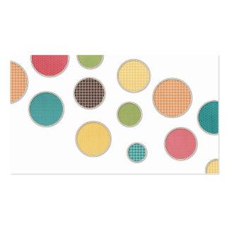 cercles colorés dans les cadres argentés modèles de cartes de visite