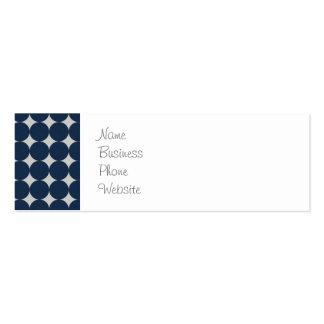 Cercles de bleu marine et cadeau argenté de motif  cartes de visite professionnelles