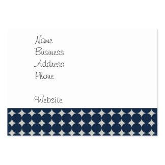 Cercles de bleu marine et cadeau argenté de motif  modèles de cartes de visite