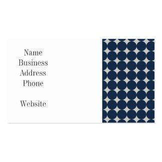 Cercles de bleu marine et cadeau argenté de motif  cartes de visite personnelles