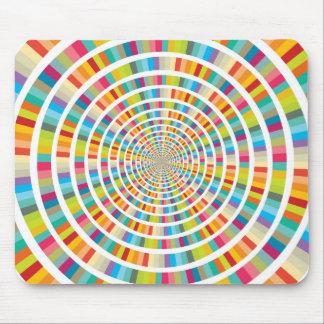 Cercles de mélange de couleur - Mousepad Tapis De Souris