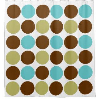Cercles - olive bleue et motif équilibré brun