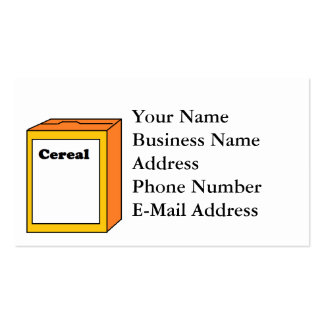 Cereal Box Cartoon Business Card