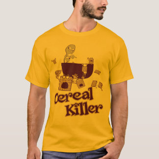 Cereal Killer $24.95 Adult Gold Tee