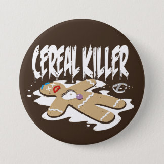 Cereal Killer 3 Inch Round Button