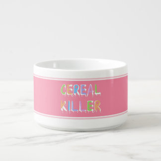 Cereal Killer Pun Cereal Bowl