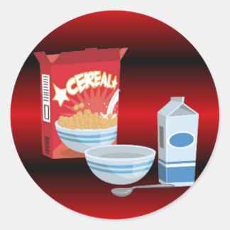 Cereal Round Sticker