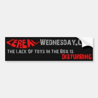 Cereal Wednesday Bumper Sticker