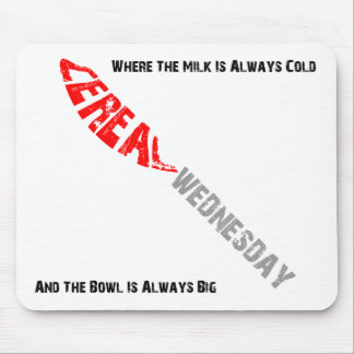 Cereal Wednesday Mousepad