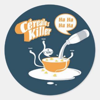 CerealesKiller Classic Round Sticker
