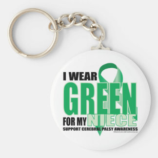 Cerebral Palsy Green for Niece Basic Round Button Keychain