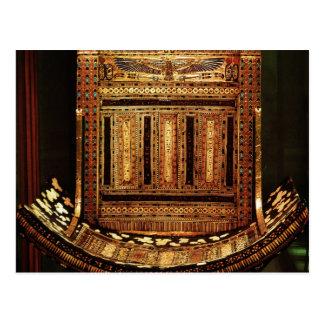 Ceremonial Chair of Tutankhamun Postcard