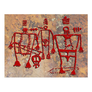 Ceremonial Dancers Petroglyph Postcard