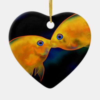 Ceressitia V1 - fighting severums Ceramic Heart Ornament