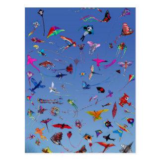 Cerfs-volants de cerfs-volants de cerfs-volants cartes postales