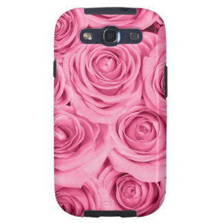 cerise pink roses elegant pattern by healing love galaxy SIII cover