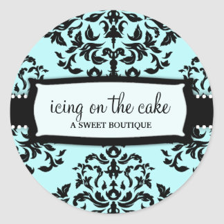 Cerise sur le gâteau 311 quelque chose bleue sticker rond