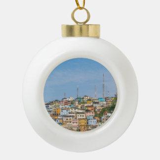 Cerro Santa Ana Guayaquil Ecuador Ceramic Ball Ornament