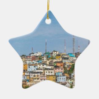 Cerro Santa Ana Guayaquil Ecuador Ceramic Star Ornament