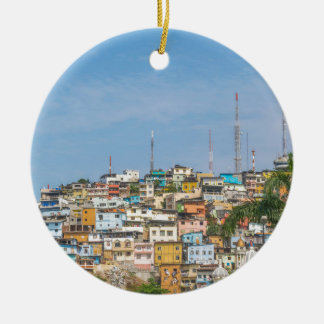 Cerro Santa Ana Guayaquil Ecuador Round Ceramic Ornament