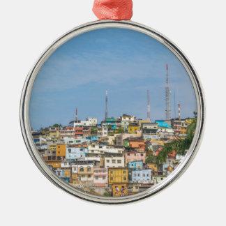 Cerro Santa Ana Guayaquil Ecuador Silver-Colored Round Ornament