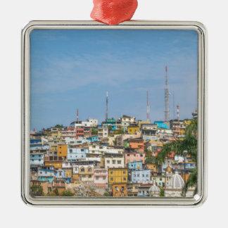 Cerro Santa Ana Guayaquil Ecuador Silver-Colored Square Ornament