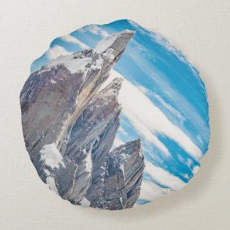 Cerro Torre Parque Nacional Los Glaciares Round Pillow