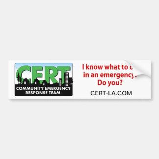 CERT Bumper Sticker-customize Bumper Sticker