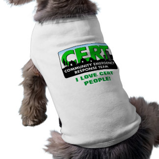 CERT Dog shirt-white Shirt