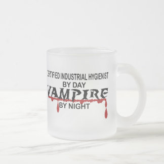 Cert Indust Hyg Vampire by Night Frosted Glass Coffee Mug