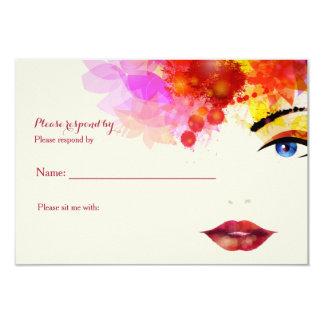 "Certain Glance Cancer Fundraising RSVP Card 3.5"" X 5"" Invitation Card"