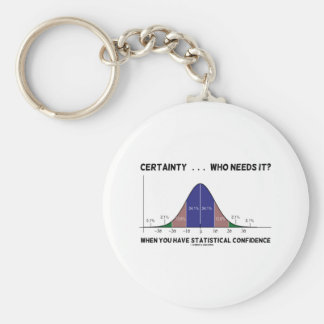 Certainty ... Who Needs It? When You Have Stats Keychain