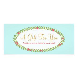 Certificat de cadeau de mode et de beauté carton d'invitation  10,16 cm x 23,49 cm