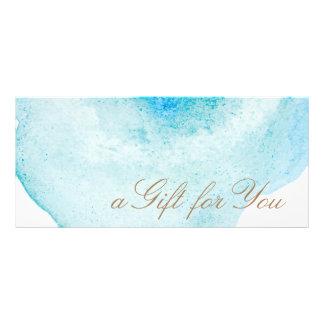 Certificat-prime abstrait d'aquarelle de bleu carte publicitaire