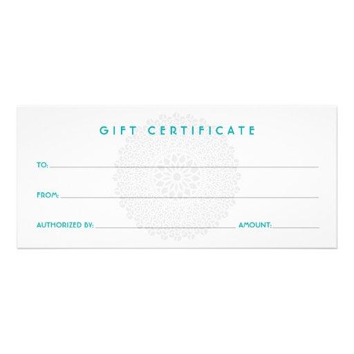 Certificat-prime bleu d'impression divine motif pour double carte
