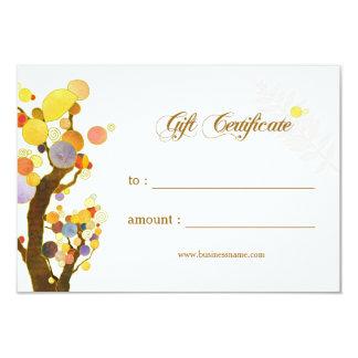 Certificat-prime d'affaires d'arbres de Nouveau Carton D'invitation 8,89 Cm X 12,70 Cm