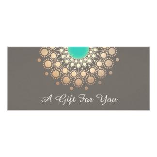 Certificat-prime floral de mandala d'or et de double cartes customisées