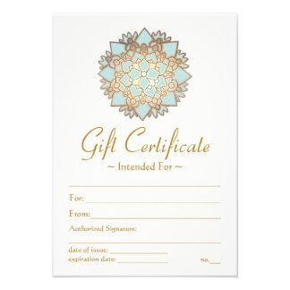 Certificat-prime naturel de fleur de Lotus de spa