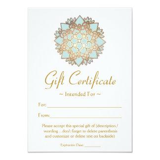 Certificat-prime naturel de fleur de Lotus de spa Carton D'invitation 11,43 Cm X 15,87 Cm