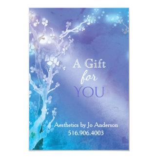 Certificat-prime orné de bijoux bleu d'affaires carton d'invitation 8,89 cm x 12,70 cm