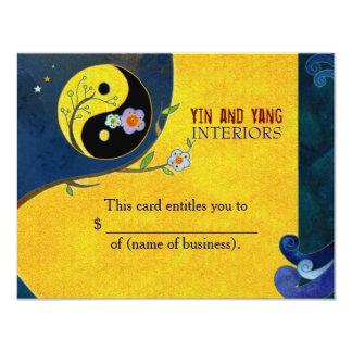 Certificat-primes d'affaires de Yin n Yang Carton D'invitation 10,79 Cm X 13,97 Cm